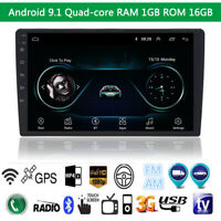 Android 9.1 1080P Touch Screen Car Stereo Radio GPS Wifi  FM Bluetooth1GB +16GB
