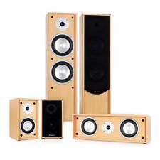 WOW: AUNA LINIE-300-BH HEIMKINO LAUTSPRECHER SOUND SYSTEM 5.0 BOXEN SET BUCHE