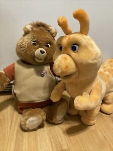 Teddy Ruxpin 1985 Talking Animated Bear In Original Suit Vintage, Tape, Grubby