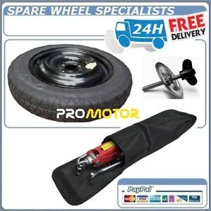 """15"""" SPACE SAVER SPARE WHEEL +TOOLS +RETAINING BOLT FITS FORD FIESTA 2008-PRESENT"""