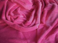 Minky Cuddle Plush HOT PINK Double Sided Fleece 61-62 inch Wide NEW Poly
