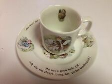 WEDGWOOD MRS. TIGGY-WINKLE BEATRIX POTTER CUP/MUG & SALAD PLATE -2 PCS TOTAL