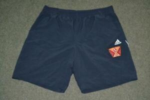 RETRO ADIDAS 2010 NAVY BLUE POLYESTER CASUAL SPORTS SHORTS SIZE MENS XL