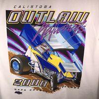 Calistoga Speedway XL Outlaw National 2K T Shirt NARC SCRA Dirt Track Racing NOS