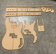 5 String Precision Bass Standard Guitar Building/Routing templates-Laser Cut