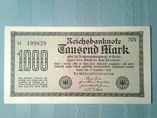 "Germany Reichs Banknote 1000 Mark 1922 P 76 *UNC* BirthYear ""1996"" 1b4.1"