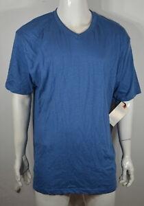 Alexander Julian Men's V neck T shirt 2X Blue NWT