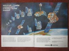 12/82 PUB GENERAL ELECTRIC DSCS III MILSTAR MILITARY COMMUNICATION SATELLITE AD