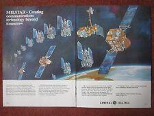 12/82 PUB GENERAL ELECTRIC DSCS III MILSTAR MILITARY COMMUNICATION SATELLITE AD