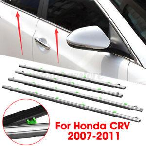 For Honda CR-V CRV 2007-2011 4Pcs Car Window Moulding Weatherstrips Seal