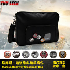 Watch Dogs 2 Marcus Cosplay Waterproof Messenger Crossbody Bag With 7 Badges