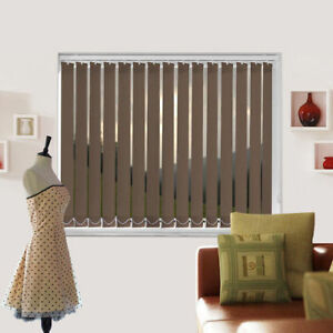 Complete Vitra Zorro Brown Blackout Made To Measure Vertical Blind - Best Price