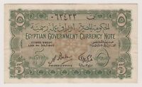 Egypt Egyptian Banknote 5 Piastres 1940 P163 gVF Original Rare Currency Note