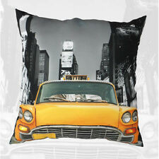 New York Yellow Taxi Cushion with Pad filling and cover complete