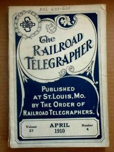 The Radio Telegrapher Vintage/Antique Magazine:  April 1910