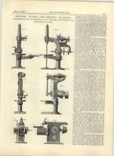 1883 San Francisco Tool Company Máquina de Perforación aburrido modelado diagrama