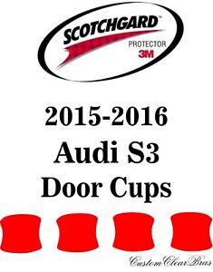 Genuine 3M Scotchgard Paint Protection Film Clear Pre-Cut 2015 2016 Audi S3