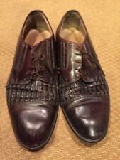 Johnston & Murphy Mens Shoes 10.5 M Cellini Burgundy 5526 Made In Italy