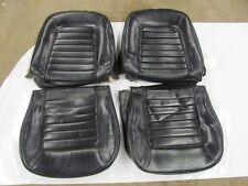 Original 1965 65 Corvette Black Vinyl Seat Covers DATED Survivor Aug 65 Date