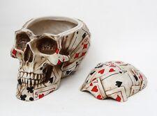 Poker Skull Stash Box Collectible Figurine