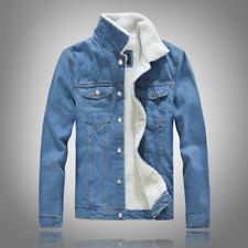 Men Jacket Button up Denim Trucker Jackets Coat Fashion Casual Gift Waist Length