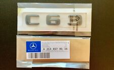 New Mercedes C63 Badge Emblem Decals New Style Gloss Black Uk Seller 🇬🇧