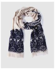 Écharpes et châles foulard bleu en acrylique pour femme