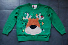 WOMENS REINDEER CHRISTMAS/XMAS JUMPER WITH REAL BELLS SIZE LARGE