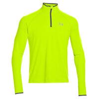Mens New Under Armour Training Running Jacket Tracksuit Top Sweatshirt - Yellow