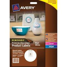 Avery Label 980009 L7104REV White Round 10 sheets 12up