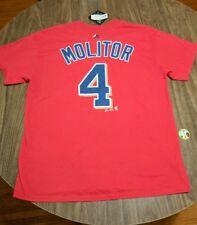 Minnesota Twins Molitor Red Majestic T-shirt Size Large