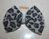 New Gymboree Gray Leopard Bow Barrette Clip Hair Accessory NWT Snowflake Fun