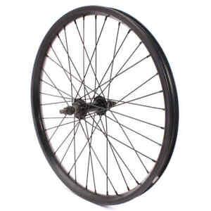KHE BMX Front Wheel Black Anodized 28mm Aluminium Tdi Rim 36 Hole 10mm Run Bike