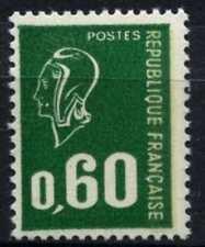 France 1971-6 SG#1904ap 60 C Emerald Marianne typo définitif Phosphor Neuf sans charnière#D64775