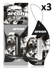 3 x Areon Liquid 5ml. Black Crystal Car Aroma Perfume Tree Air Freshener Scent