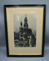 Originale Radierung von Rudolf Veit - Dresden um 1927