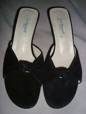 L.K.Bennett  UK 8   EU 42  BLACK Suede / Leather Mules RRP £ 129.00