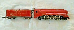Gilbert American Flyer 353 Circus Locomotive & Tender 1950 Only. Serviced