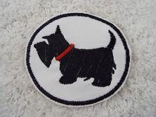 "E15 SCOTTY DOG 3-3//4/"" Embroidery Iron-on Custom Patch"