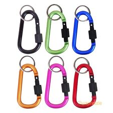 "Carabiner 3"" Aluminum Hook Twist Lock Keychain Key Ring Spring Belt Clip 6 Pack"