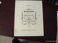 Hans Barth: The Music Box, piano solo (Schroeder & Gunther)