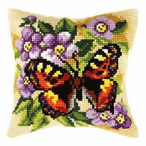"""Cross Stitch/Tapestry Cushion Kit 16 x 16"""" - Free Cushion Pad Insert"""