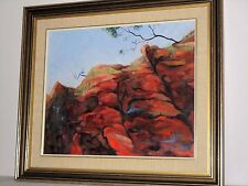 Stanley Chasm Nature's Colourful Rocky Face Ruth Bergin 89 Original Painting