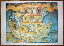 Satki Burman lithographie signée numérotée artiste indien Paris