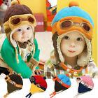 Baby Kids Winter Warm Earflap Pilot Aviator Cap Toddler Girl Boy Soft Beanie Hat