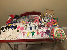 Large lot of Original Bandai Mighty Morphin Power Rangers items Over 70!
