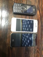 Iphone 4 Lot And Lg, 3 Phone Lot
