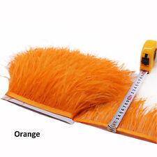 Pantalla de color naranja Indio Sari Ribete De Flecos frontera 1M