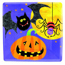 8 x HALLOWEEN Square Paper Party Plates Pumpkin Bat *GRUESOME GROUP* FREE P&P