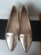 NEW WITH BOX CORELLI BRUNELL MET-PALE GOLD women shoes. SIZE 40 (AU 9).